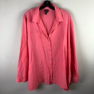 Eileen Fisher women's top size XL button down